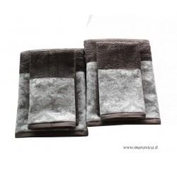 Set 2 coppie di spugne eleganti asciugamano viso e ospite...