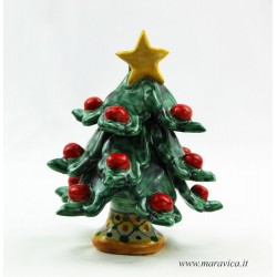 Hand painted Christmas tree sicilian ceramic