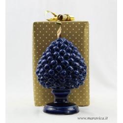 Pigna blu ceramica di Caltagirone realizzata e dipinta a...