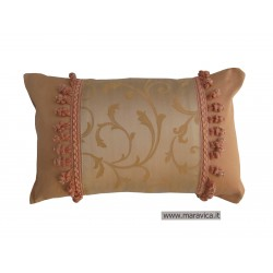 Country chicthrow pillow jacquard cm 30x50 champagne...