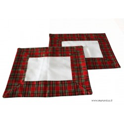 Set of 2 american placemats in country chic tartan