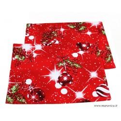 Set 2 Tovagliette colazione natalizie rosse
