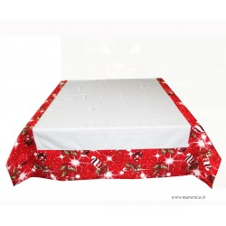 copy of Country chic tablecloth in tartan with trimming