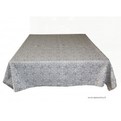 Elegant tablecloth in pearl gray cotton