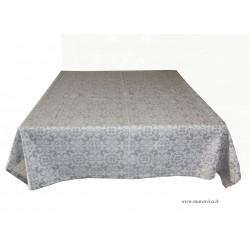 Tovaglia da tavola elegante in cotone grigio perla