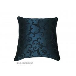 Cuscino arredo classico elegante damasco blu made in Italy