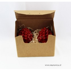 Red ceramic sicilian pine cone handmade in Caltagirone in...