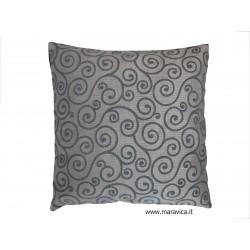 Blue jacquard cushion...