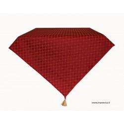 Tovaglia centrotavola elegante natale in damasco rosso a...