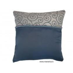 Cadetblue jacquard cushion...