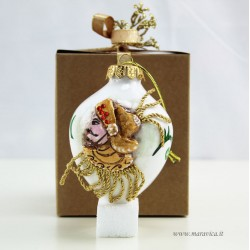 Christmas decoration in hand painted ceramic 3d...