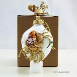 Decorazione Natalizia in ceramica dipinta a mano decoro...