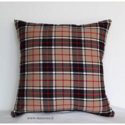 Cuscino arredo fantasia scozzese