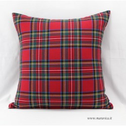 Country Chic Style Red Tartan Cushion
