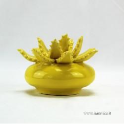 Pianta di aloe in ceramica siciliana di Caltagirone...
