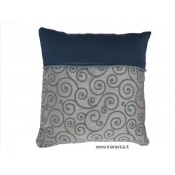 cadetblue jacquard pillow...