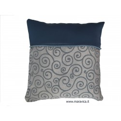 cadetblue jacquard pillow...