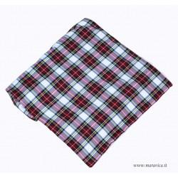 Runner da letto country chic in tessuto tartan e pile
