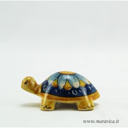 Caltagirone ceramic turtle decorated by hand