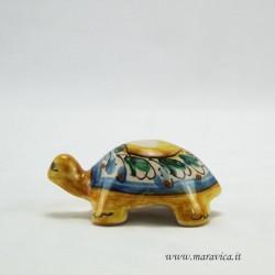 Tartaruga in Ceramica siciliana di Caltagirone decorata a...