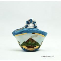 Coffa in ceramica piccola con decoro Etna in scatolina...