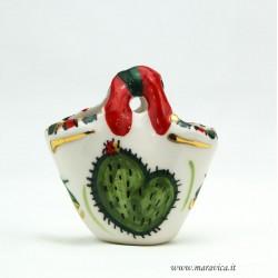 Coffa in ceramica piccola con decoro fichi d'india...