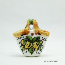 Small ceramic coffe with lemons decor gift box