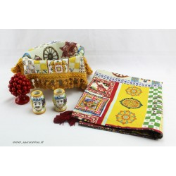 Sicilian style table set: exclusive gift box