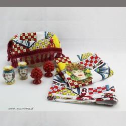 Set tavola teste di moro: esclusiva confezione regalo