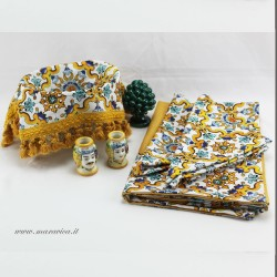 Sicilian majolica yellow table set: exclusive gift box