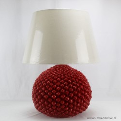 Red Pine Cone Lamp Sicilian Ceramic Caltagirone