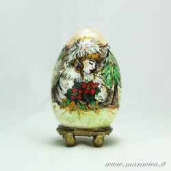 Ester egg hand painted ceramic Winter