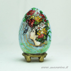 Easter egg hand painted sicilian ceramic spring