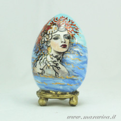 Easter egg hand painted sicilian ceramic Summer