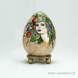 Easter egg sicilian ceramic hand painted Autumn