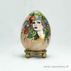Uovo di Pasqua in ceramica dipinto a mano autunno