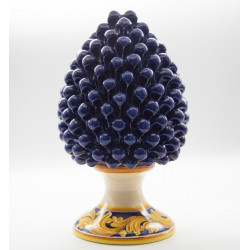 Blu Sicilian pine cone with decorated base h cm 30 in...