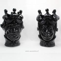 Teste di moro nere arredamento moderno lusso ceramica di...
