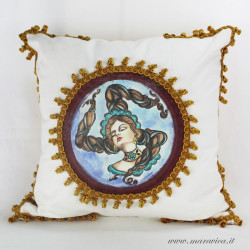 copy of Decorative cushion with Trinacria print Sicily...