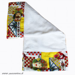 Beach towel in high quality cotton terry with dark brown...
