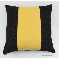 Black velvet throw pillow sicilian baroque and gold damask