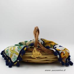 Basket for table and kitchen decoration with Sicilian...