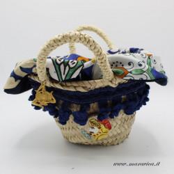 Coffa siciliana cestino centrotavola con  decorazioni in...