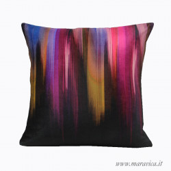 Modern decorative cushion in abstract patterned velvet