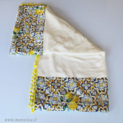Beach Towel in very soft Bamboo Terry with edges in...