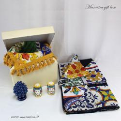 Set tavola maiolica: esclusiva confezione regalo