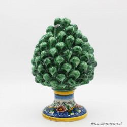 Pigna decorata h cm 20 in ceramica di Caltagirone...