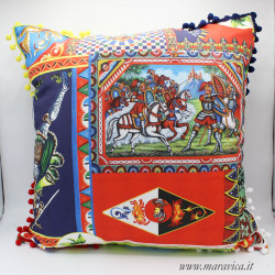 Throw pillow Decorative cushion in Sicilian patterned...