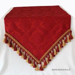 Elegant table runner red burgundy damask Baroque style