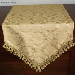 Runner tavolo classico elegante damasco oro a punta con...